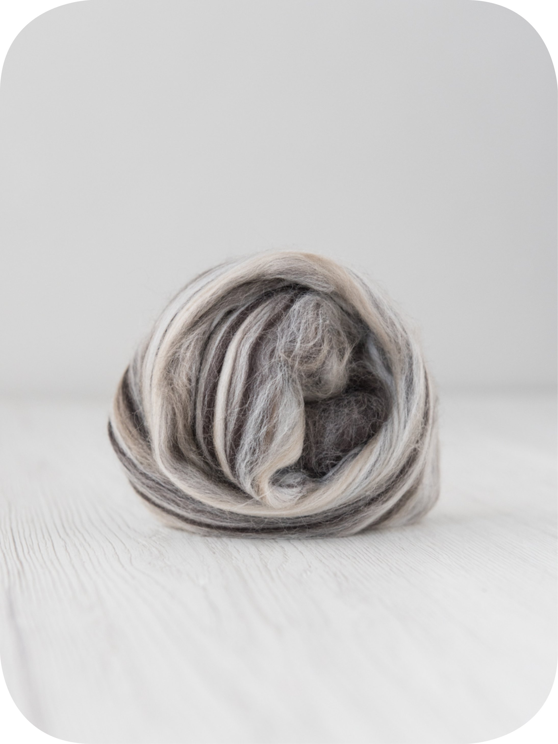Image of 10 Kg. Extra Fine Merino Wool Tops (Sliver) - Sugar Candies Collection Cappuccino
