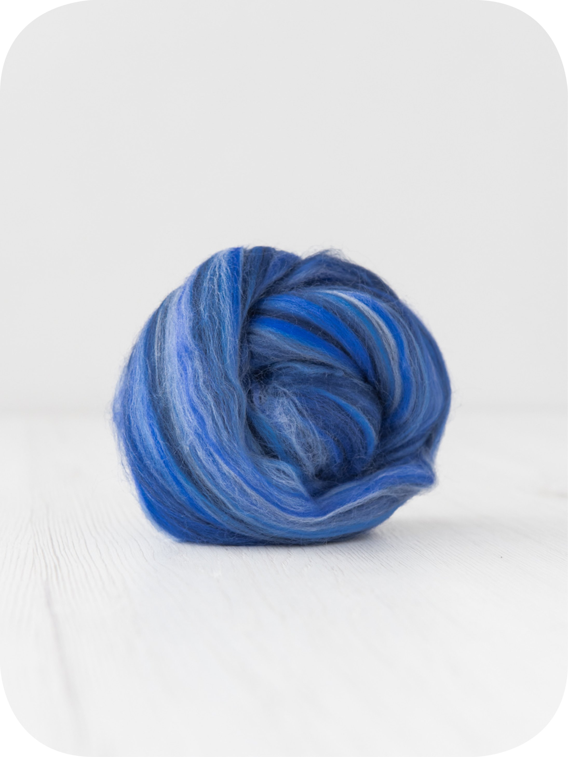 Image of 10 Kg. Extra Fine Merino Wool Tops (Sliver) - Sugar Candies Collection Ocean